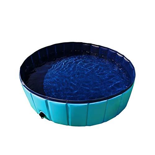 Piscina Plegable para Perro Cachorro Gatos Mascotas Niños Niños Bola Agua Estanques De Baño Bañera(80x20CM)