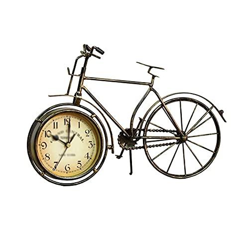 XBYUNDING Mantel Reloj Retro Hierro Reloj Hogar Sala de Estar Dormitorio Decoración Mesa Reloj de Escritorio Adornos Mesa Pequeña Mesa Reloj Despertador Adecuado como Regalos para Amigos