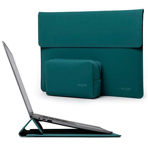 HYZUO 13-13.5 Inch Laptop Sleeve Water-resistant Case with Stand Feature Compatible with 13.5 Surface Laptop/Old MacBook Air 13/2012-2015 MacBook Pro 13/12.9 iPad Pro 2015 2017, Dark Green