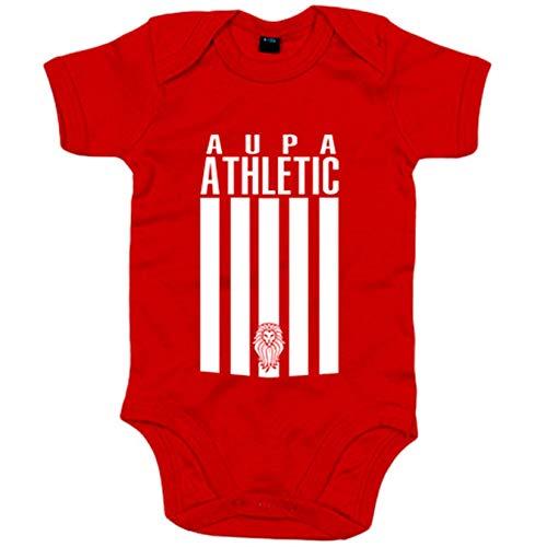 Body bebé ilustración Aupa Athletic león Bilbao - Rojo, 6-12 meses