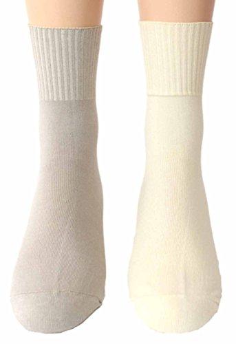 Shimasocks Herren Socken ohne Gummi 2 Paar 98prozent Baumwolle, Größe:43/46, Farben alle:beige/creme