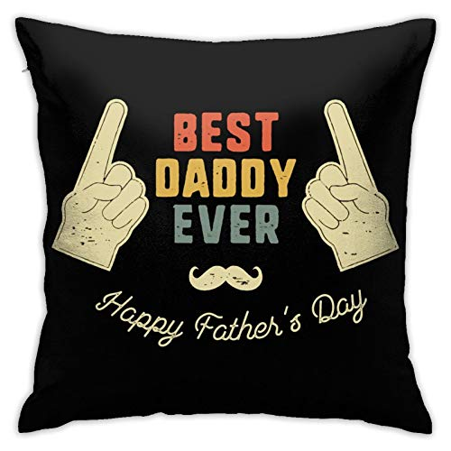 ROLFUSHA Best Papa Ever Father's Day 3 Hypoallergenic Throw Pillow Insert Sham Cushion Cover Square Pillowcase18 inches