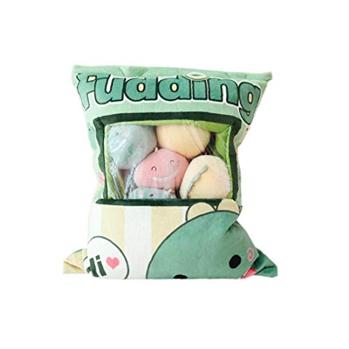 NorCWulT 1bag Plüsch Mini Dolls Pudding Plüschtiere Simulation Innovative Snacks Puppe-weiches Sofa-Kissen Für Hauptdekoration (Dinosaurier)
