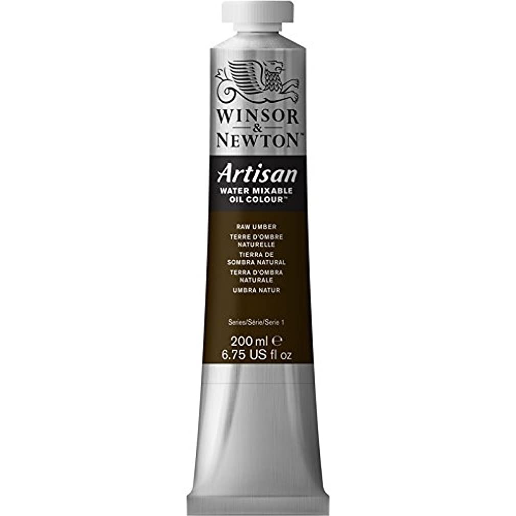 Winsor & Newton Artisan Water Mixable Oil Colour Paint, 200ml Tube, Raw Umber