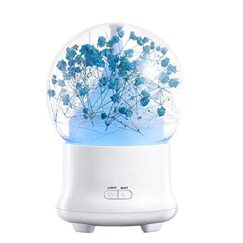 Aromathérapie Huile Essentielle Diffuseur Cool Mist Humidificateur 100Ml LED Ultra-Léger Parfait pour La Maison, Bureau, Salon, Spa, Voiture,Cyanblue