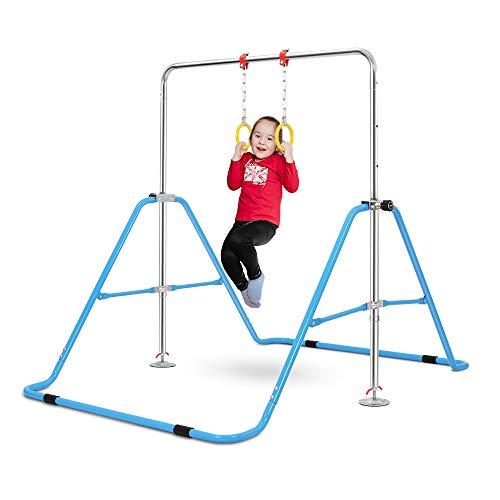 ONETWOFIT Gymnastics Bars Kids Kip Training Bars for Home,Folding Horizontal Bars with Adjustable Height,Practice Bar Gymnastic,Junior Training Bar for Child OT228