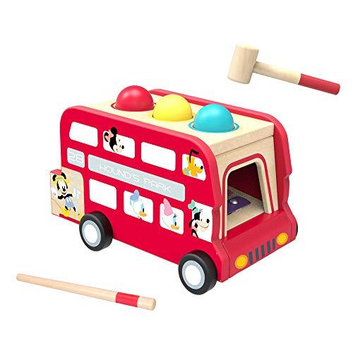 Sevira Kids – Juguete de madera – Bus musical Mickey – Xilófono – Instrumento de música