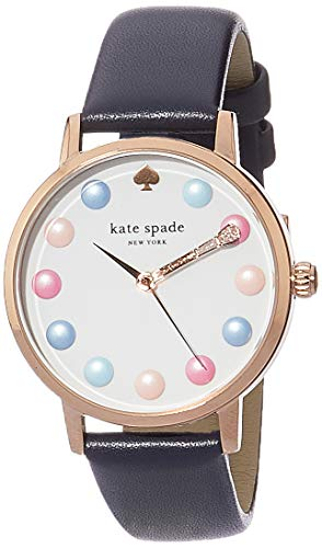 Kate Spade Women's Metro Three-Hand Pink-Tone Stainless Steel Watch KSW1454