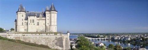 Posterazzi Castle in a town Chateau Samur Saumur Maine-Et Valley Pays-De-La-Loire Centre Region France Poster Print, (18 x 7)