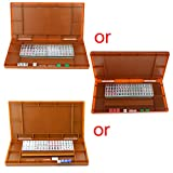 siwetg Mini 144 Mahjong Set Mah Jong mesa tradicional juego de viaje plegable