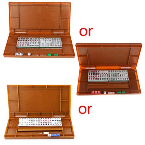 siwetg Mini 144 Mahjong Set Mah Jong mesa tradicional juego de viaje...
