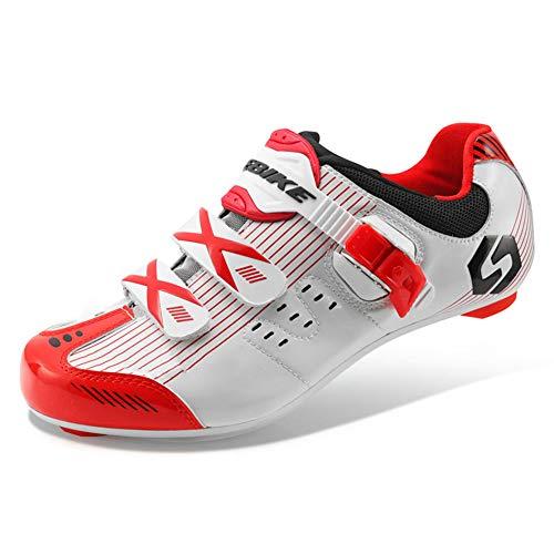 GUARDUU Zapatillas De Ciclismo MTB Zapatillas Ciclismo Carretera MTB Transpirables Zapatillas De Bicicletas Montaña con Sistema De Autobloqueo,A,35(US:3)