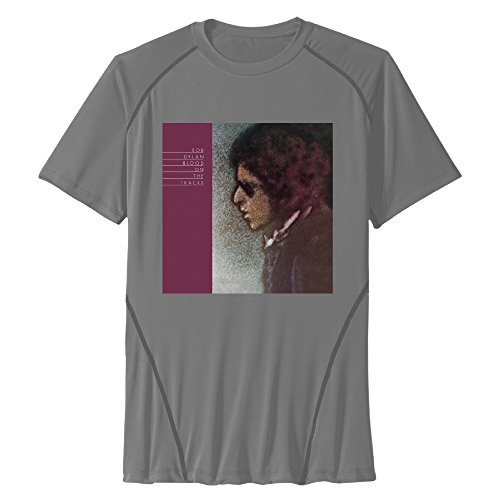 Zhanzy Hombres de Sangre en Las Pistas Bob Dylan el Athletic de Secado rápido Todos en Entrenamientos Deportivos de Manga Corta Tees T Shirt Tamaño US Negro