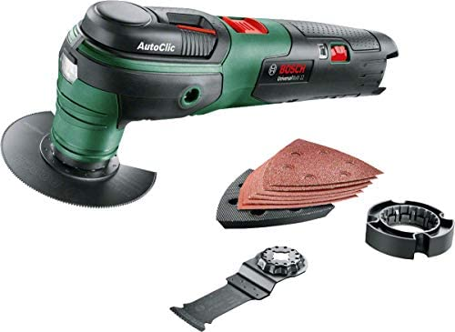 Bosch Home and Garden 603103000 UniversalMulti 12 LI (Baretool) Cordless Oscillating Tools, 12 V, Black/Green/Red