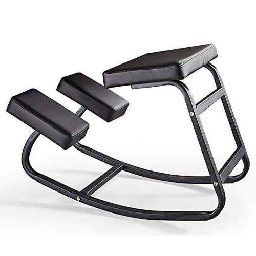 Ergonomische knielende stoel, barkruk Ergonomische kniestoel Stoel voor houdingcorrectie PU-leer heen en weer schommelen Dik kussen Thuiskantoormeubilair Computerspel Stoel Keelpijn