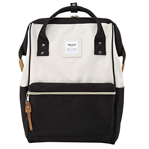 Himawari Travel Backpack Laptop Backpack Large Diaper Bag Doctor Bag Backpack School Backpack for Women&Men(XK White & Black)