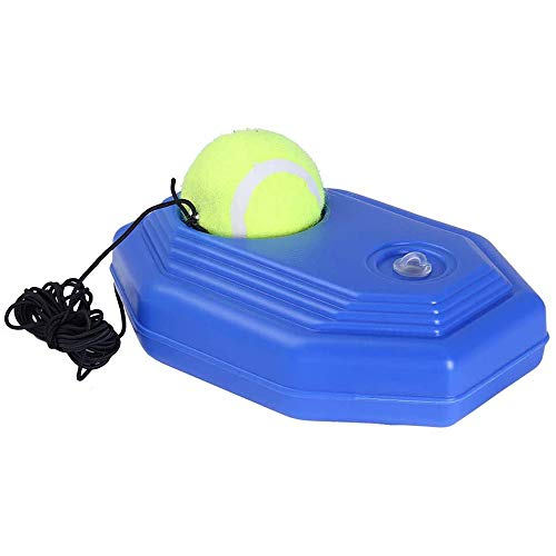 DEARWEN Solo Tennis Trainer Rebound Ball, Fill & Drill Tennis Trainer with String,Rebounder Tennis Practice Equipment Rectangle