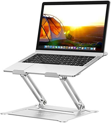 MOEVERT Soporte Portatil, Ajustable Soporte para Ordenador Portátil Aluminio Soporte para Laptop Portátil Plegable Laptop Stand para MacBook Pro Air, DELL, HP, iPad y Otros 10-16' Pulgadas Netbooks