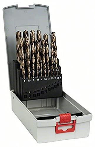 Bosch Professional Set da 25 Pezzi di punte per metallo HSS-Cobalt ProBox, per acciaio inossidabile, accessorio per trapano avvitatore