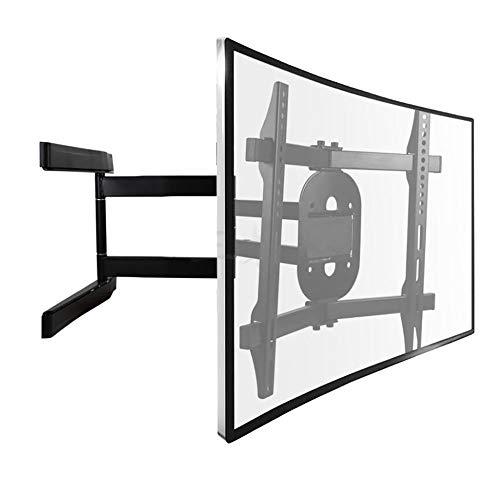 QFQ TV Stand Curvo, ruotabile TV Parete Set Supporto for 42/55/60/65 Pollici capacità Televisiva carico LED sopra 15KG