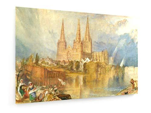 William Turner - Lichfield - Staffordshire - Kathedrale - Aquarell - 120x80 cm - Leinwandbild auf Keilrahmen - Wand-Bild - Kunst, Gemälde, Foto, Bild auf Leinwand - Alte Meister/Museum