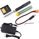 Original TS100 Digital OLED Programmable Pocket-size Smart Mini Outdoor Portable Soldering Iron Station Kit Embedded Interface STM32 Chip Fast Heat (TS100 black BC2 TIP)