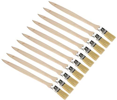 KOTARBAU® 10er Set Heizkörperpinsel 25 mm Winkelpinsel Lasurpinsel Lackierpinsel Malerpinsel Holzpinsel für Schwer Zugängliche Stellen