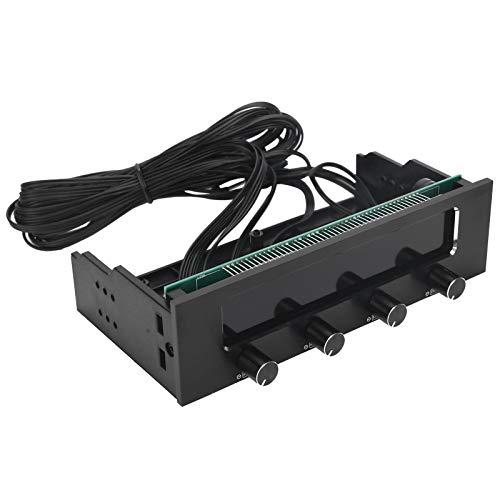 Hyuduo1 Controlador de Ventilador, Controlador de Ventilador para CPU de computadora, Controlador de Panel Frontal Multifuncional de 4 Canales, Controlador de Ventilador de Pantalla LCD STW ‑ 6041