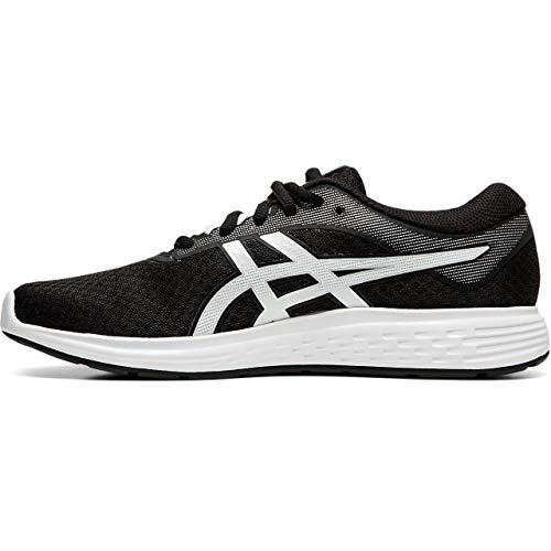 Asics Patriot 11, Running Shoe Womens, Black/White, 40.5 EU