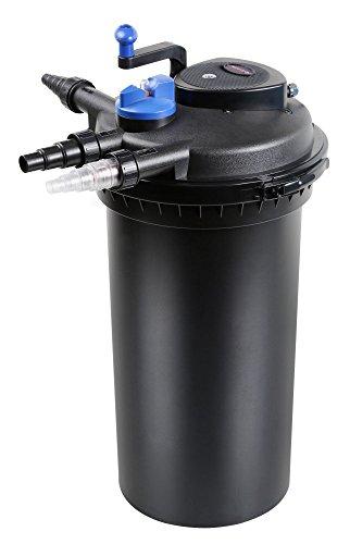 AquaOne CPF 15000 Bio Druckteichfilter 30000l Teichfilter Bachlauf inkl.18 Watt UVC Klärer Druckfilter Bachlauf UVC Lampe Klar