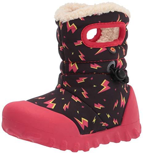 BOGS unisex child B-moc Snow Rain Boot, Lightning-black, 11 Little Kid US