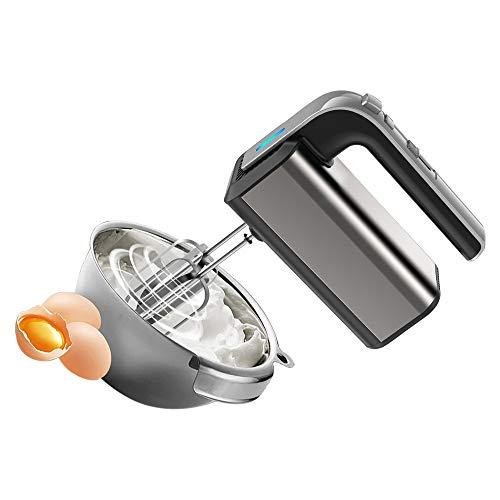 Food Mixer électrique en acier inoxydable, multifonctions réglage 5 vitesses et 500W moteur turbocompressé petite à main Fouet Mixer Accueil Cuisson de cuisson d'outils, Convient for la cuisine