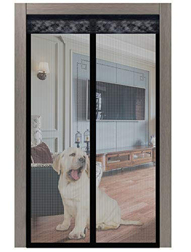 Magnetic Screen Door, Screen Door, Pet Dog Cat Friendly Screen Door with Magnet for Front Back Door Apartment Sliding Door Patio Balcony Home Anti Mosquito Bug, Heavy Duty Mesh Full Frame Hook&Loop