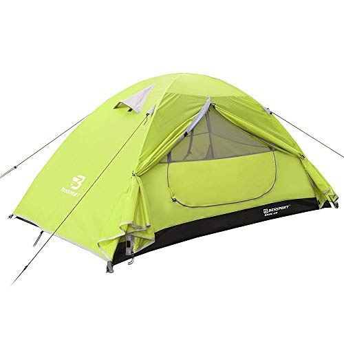 Bessport 2 Person Tent for Camping, Easy Setup Backpacking Tent Lightweight with Two Doors, Waterproof & Windproof Hiking Tent for 3-4 Seasons, Outdoor, Mountaineering and Travel