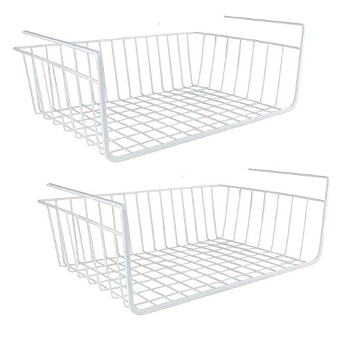 Visiondeals UNDER SHELF STORAGE BASKET - undershelf STORAGE UNIT - KITCHEN -STRONG SPACESAVER (30cm ( Pack of 2 ))