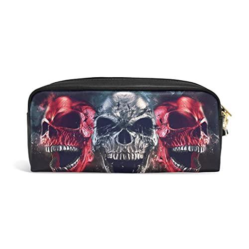 Niedliche Federmäppchen 3D Screaming Skull Pen Cases Organizer PU Leder Comestic Make-up Tasche Make-up Tasche, Zurück zu Schule Geschenke