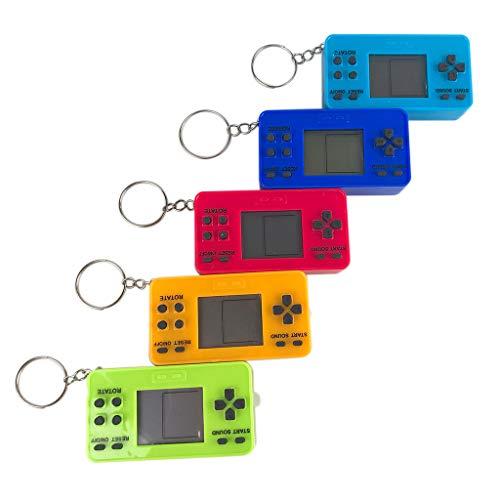 planuuik Mini Consola de Juegos clásica Retro portátil Reproductor de Juegos portátil con Llavero para niños Juguetes educativos para Juegos Regalos A