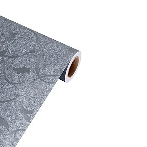 XYSQ Papel Pintado Pared Dormitorio Pared Autoadhesivo Habitacion Revestimiento De Paredes Adhesivo para Muebles Manualidades (Color : Gray, Size : 61cmX10m)