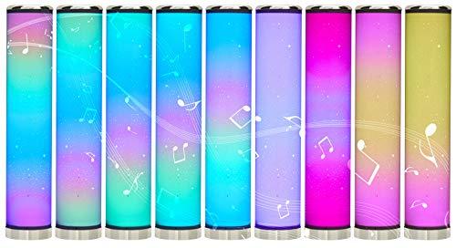 Northpoint LED Lichtsäule Stehlampe mit Sternenmuster 64cm Digitale LEDs mit flüssigen Farbübergängen dimmbar Farbwechsel mit Fernbedienung integrierter Soundsensor