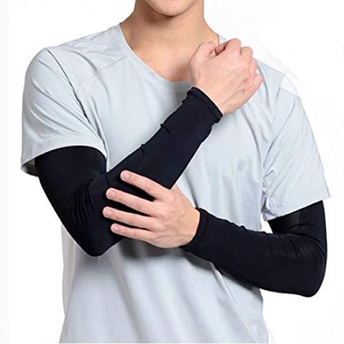 (AFROMARKET) アームカバー UVカット スポーツ 日焼け防止 冷感 刺青 タトゥー隠し ロゴ無し 両腕用 (2枚セット)