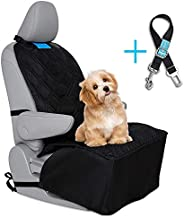 Dog Car Front Seat Cover Pet Bucket Seat Covers Luxury Washable Material Waterproof Nonslip Pet Single Seat Cover for Cars Truck SUV Seatbelt Leash Included