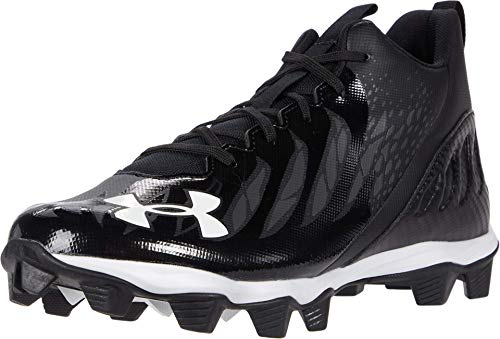 Under Armour Men's Spotlight Franchise RM Football Shoe, Black (001)/White, 9