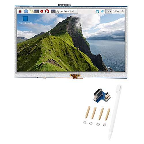 Módulo de accesorios de tableta LCD LCD de pantalla de 5 pulgadas Pantalla táctil resistiva de 4 cables para Raspberry Pi 3B +/4B