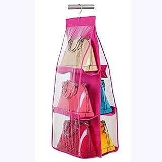 KANUSHI Industries Large Purse Organizer for Ladies Handbag/Purse Hanger for Wardrobe (Color - Pink)