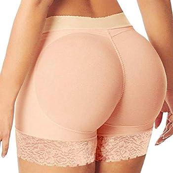 Womens Butt Lifting Padded Panties Butt Lift Shaperwear Booty Shorts Seamless Underwear Enhancer Body Shaper,a108 Khaki