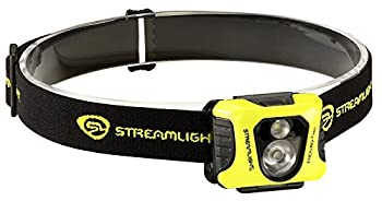 Streamlight 61421 Enduro Pro Headlamp with Alkaline Batteries Headstrap White/Red LEDs Box Yellow