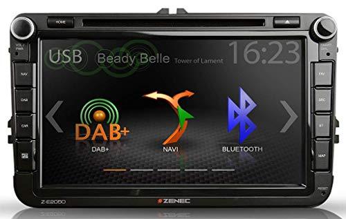 Zenec Z-E2050 inklusive Navikarte & DAB+ Scheibenantenne - Bluetooth DVD USB DAB+ für VW Skoda Seat