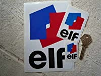 Elf Classic Style Sticker エルフ ステッカー シール デカール 50mm × 75mm 2枚セット [並行輸入品]
