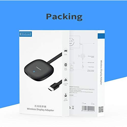 Mirascreen G18 Kabelloser HDMI-WLAN-Display-Dongle, 4K HDR, WLAN, HDMI-Receiver, kompatibel mit Android/iOS/Windows/Mac/PC (unterstützt Miracast/DLNA/Airplay)