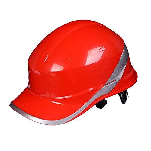 LYFHMP Baustellenbau Licht Kollisionsvermeidung Belüftung Elektriker Helm Helm Männer und Frauen Baustelle Helm (Color : Red)